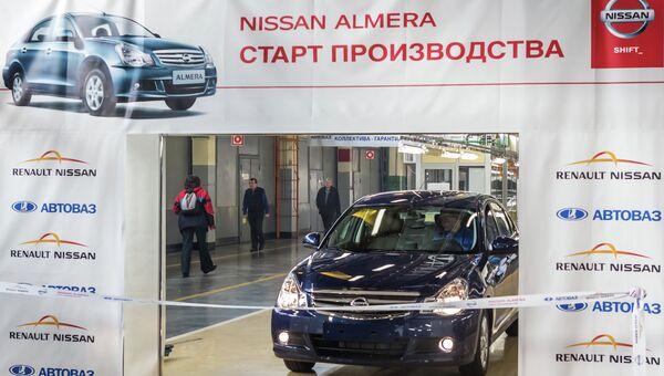 Начало производства Nissan Almera на АвтоВАЗ. Архивное фото