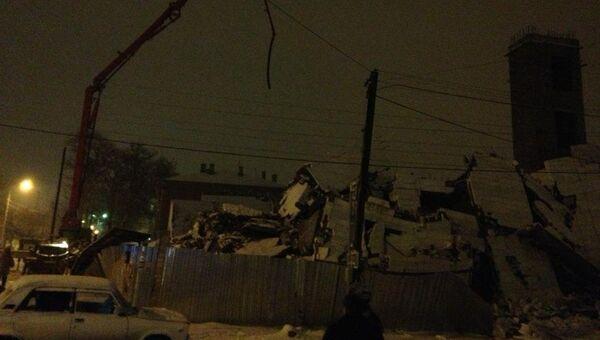 Обрушение строящегося здания в Таганроге. Архивное фото