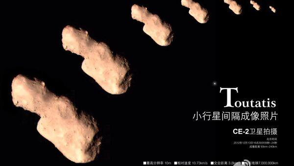 Снимки астероида Таутатис, сделанные китайским зондом Чанъе-2