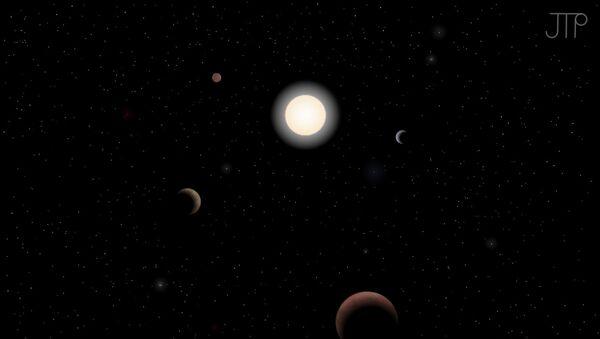 Система звезды тау Кита глазами художника