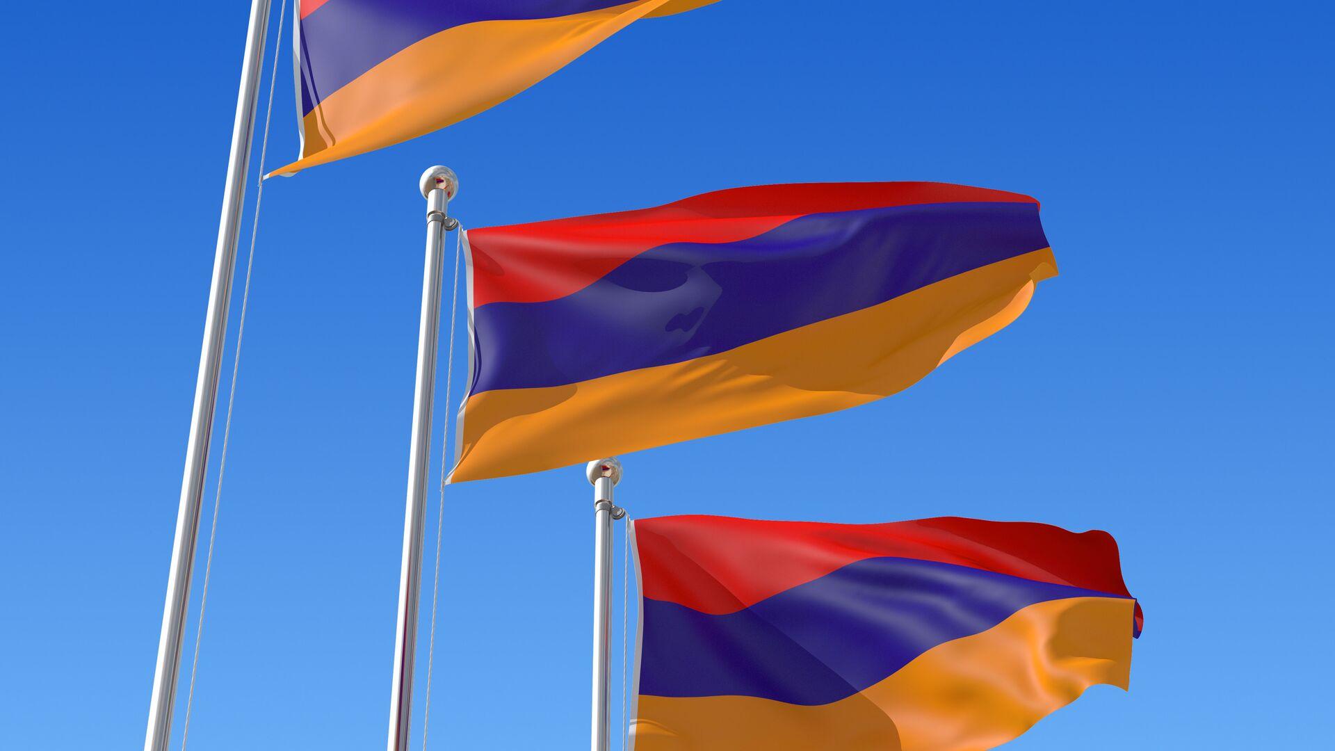 Флаг Армении - РИА Новости, 1920, 19.11.2020