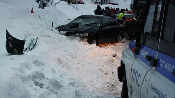 Автомобиль водителя, совершившего наезд на 11 человек на остановке в Петропавловске-Камчатском