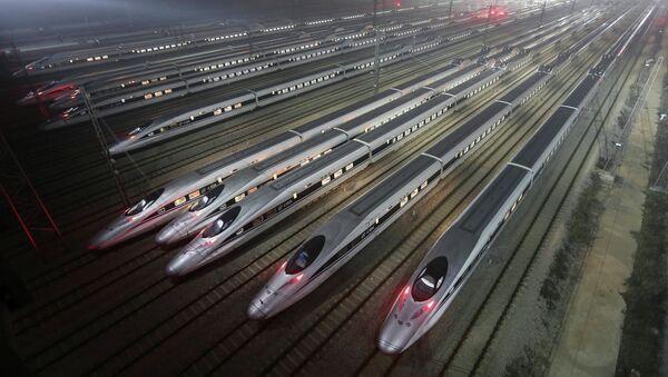 Поезда в городе Ухань, провинция Хубэй