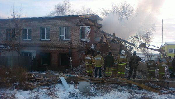 Последствия взрыва жилого дома в Астрахани