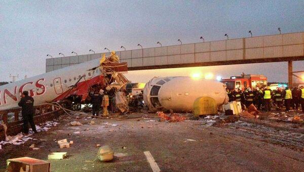 Крушение самолета Ту-204 в аэропорту Внуково.