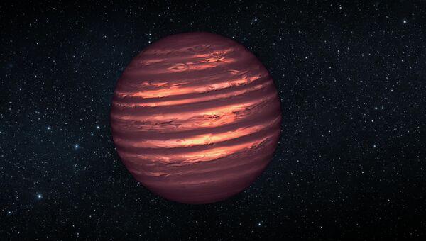 Рисунок атмосферных слоев на коричневом карлике 2MASSJ22282889-431026