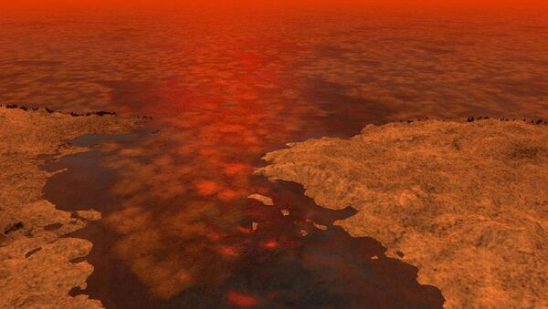На берегу метанового озера на Титане
