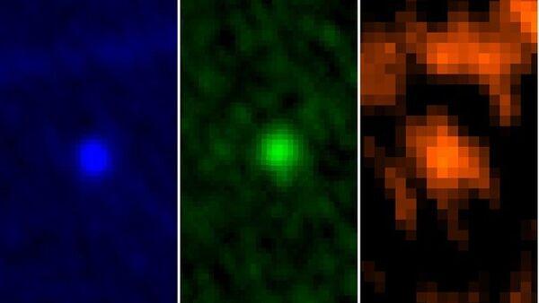 Снимки астероида Апофис, сделанные телескопом Гершель