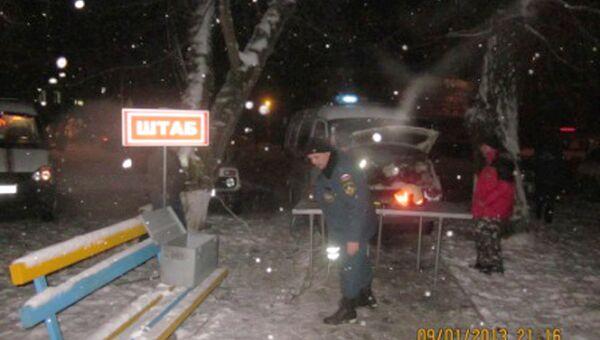 Пожар в станице Северская