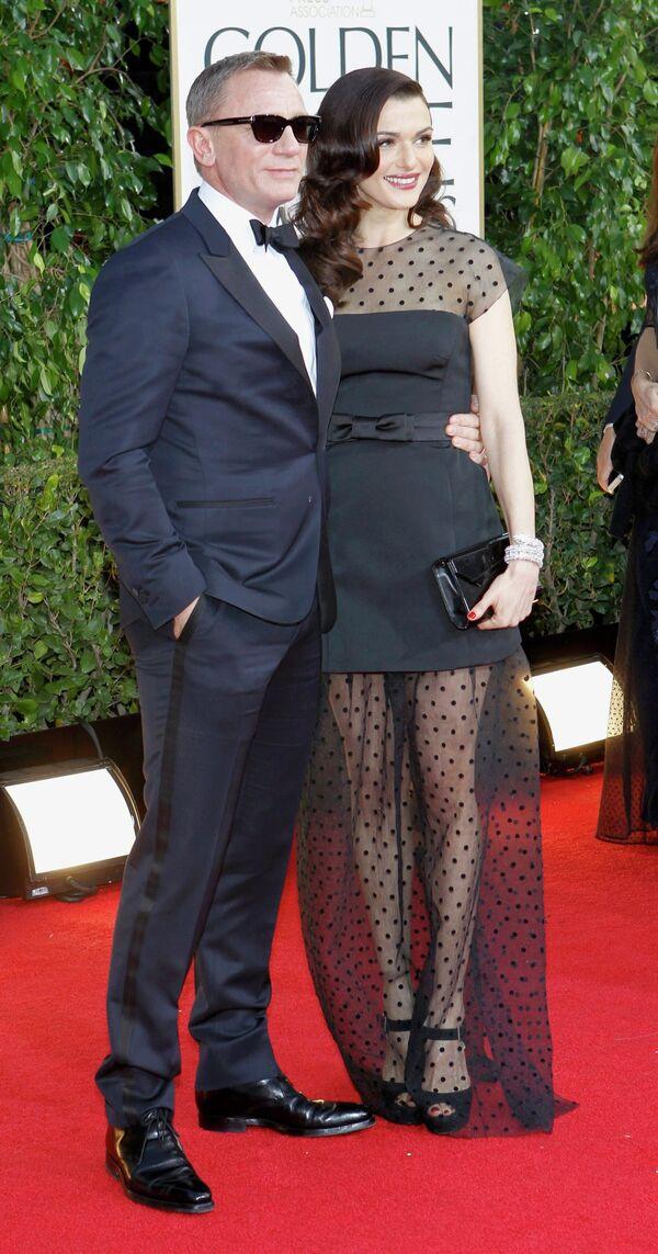 Дэниэл Крэйг и Рейчел Вайс на церемонии вручения премии «Золотой глобус»
