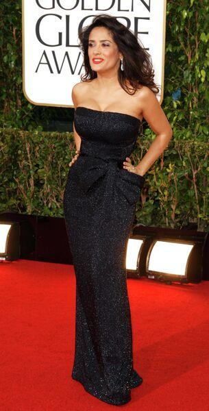 Мексикано-американская актриса Сальма Хайек на церемонии вручения премии «Золотой глобус»