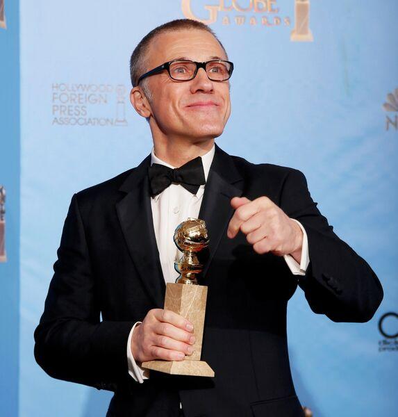 Актер Кристоф Вальц на церемонии вручения премии «Золотой глобус»