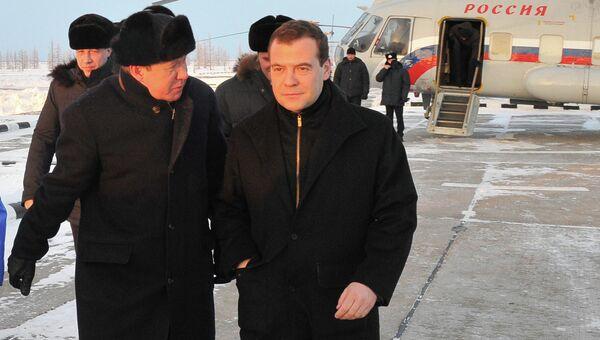 Рабочий визит Д.Медведева в ЯНАО