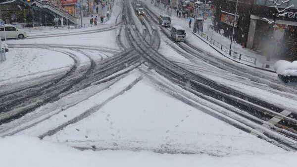 Снегопад в Токио. Архивное фото