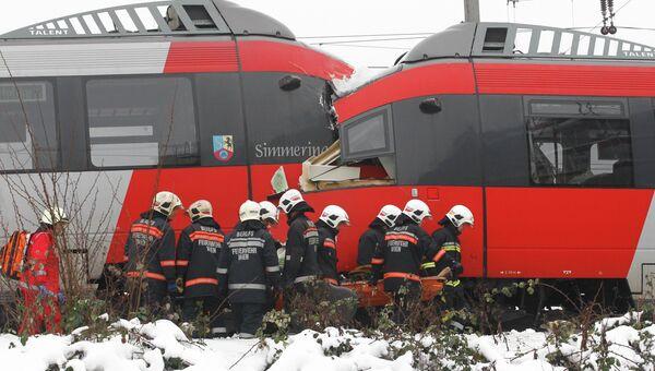 Столкновение электричек в Вене