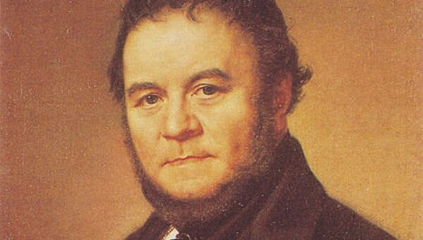Французский писатель Мари-Анри Бейль (Стендаль), портрет