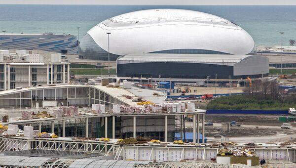 Строительство Олимпийских объектов в Имеретинской долине в Сочи