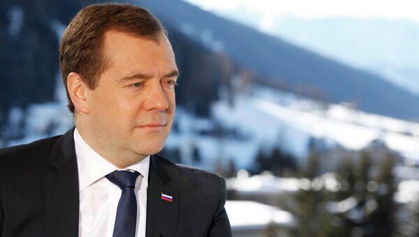 Председатель правительства РФ Дмитрий Медведев, архивное фото