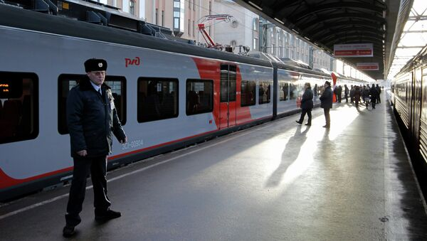 Скорый поезд Ласточка. Архив