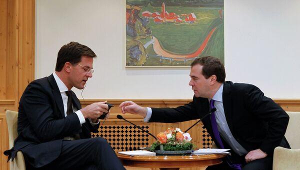 Д.Медведев встретился с М.Рютте в Давосе