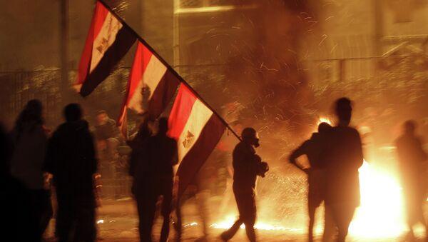 Демонстранты в Египте