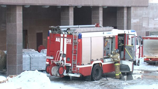 Пожар на юго-западе в Москве