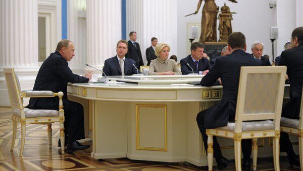 Расширенное заседание правительства РФ в Кремле