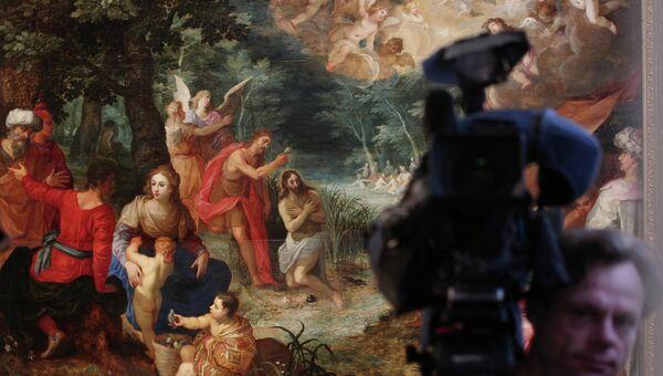 Картина Хендрика ван Балена и Яна Брейгеля Младшего Крещение Христа в ГМИИ им. А.С. Пушкина