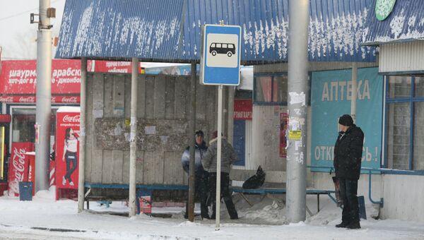 Место ДТП в Новосибирске
