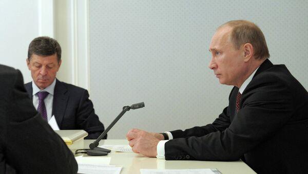 В.Путин провел совещание по последствиям наводнения в Крымске