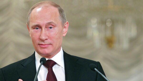 В.Путин на съезде родителей России в Москве