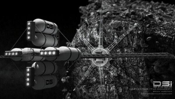 Концепт аппарата для добычи ракетного топлива на астероидах