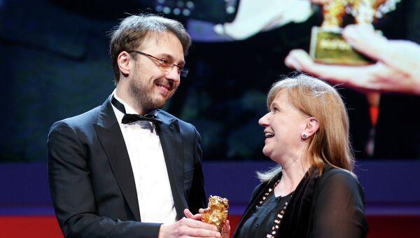Калин Питер Нецер и Ада Соломон получают награду 63-го Берлинского кинофестиваля Золотого медведя
