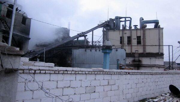 Пожар на маслозаводе на Кубани