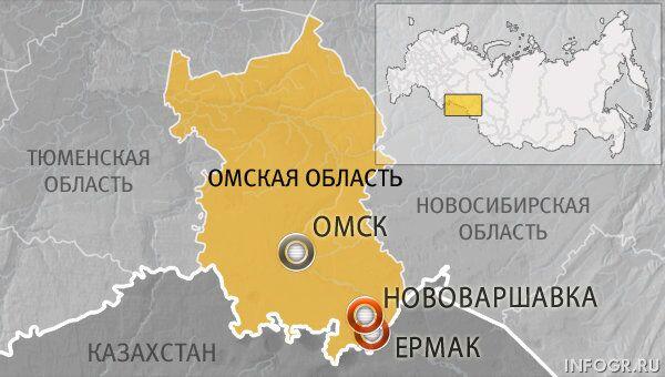 Дорога Нововаршавка — Ермак в Омской области