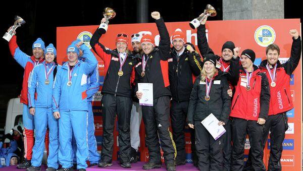 Команды России, Германии и Канады на церемонии награждения