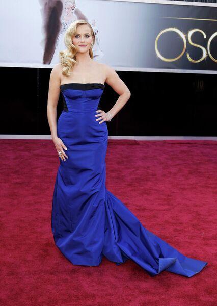 Риз Уизерспун в платье Louis Vuitton на 85-й церемонии вручения премии Оскар