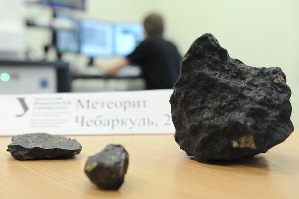 Изучение осколков метеорита, найденных в Челябинской области