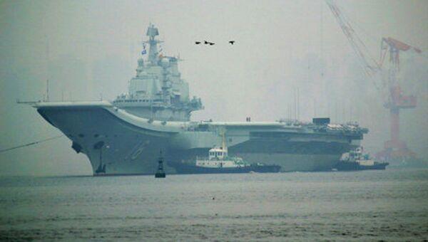 Первый китайский авианосец Ляонин. Архивное фото