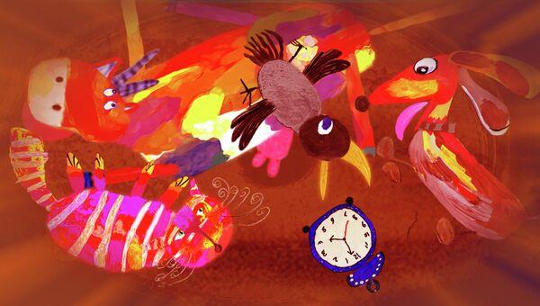 Кадр из мультфильма Как кричит крокодил?