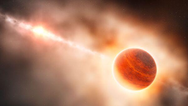 Экзопланета-гигант в представлении художника