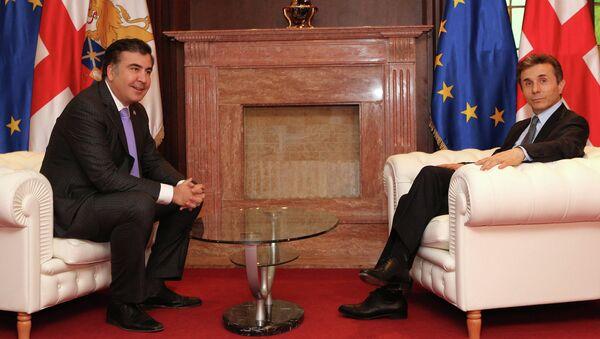 Встреча Михаила Саакашвили и Бидзины Иванишвили. Архивное фото