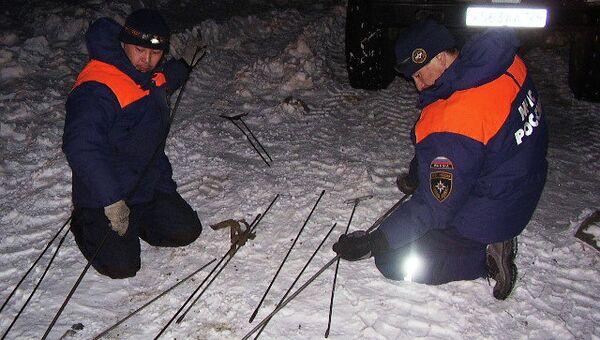 Поиски детей, попавших под лавину в Туве