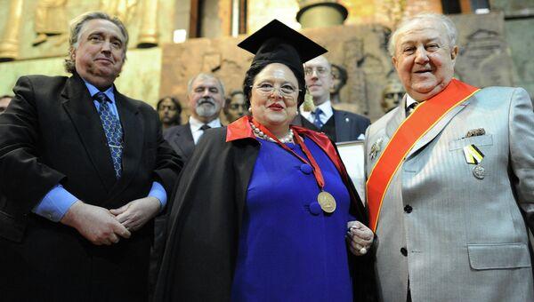 Награждение Зураба Церетели Императорским Орденом Св.Анны
