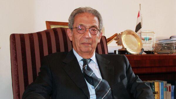 Один из лидеров египетского оппозиционного Фронта национального спасения (ФНС) Амр Муса. Архивное фото