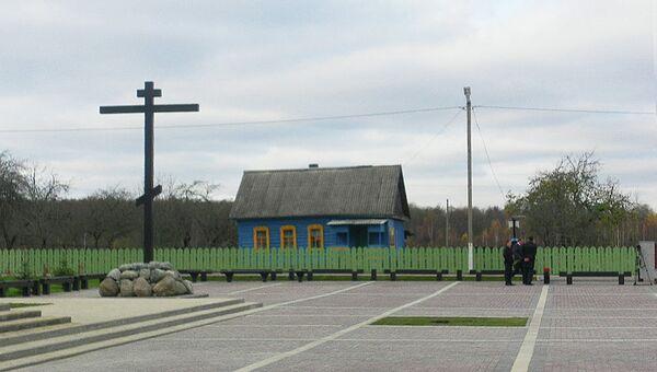 Мемориал на месте уничтоженной фашистами брянской деревни Хацунь