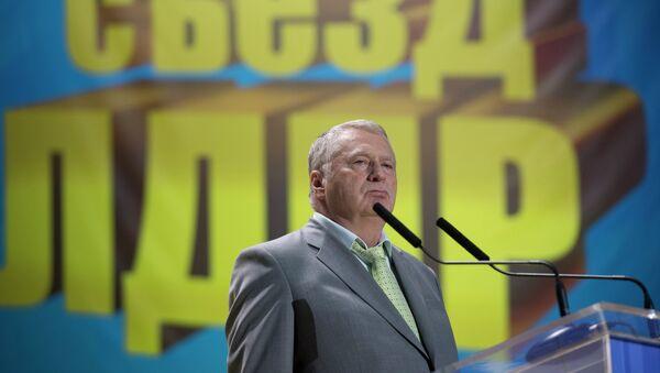 Лидер ЛДПР Владимир Жириновский на съезде партии ЛДПР, архивное фото