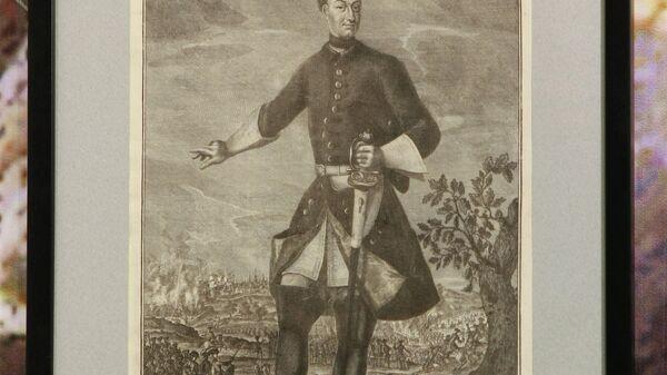 Гравюра Карл XII