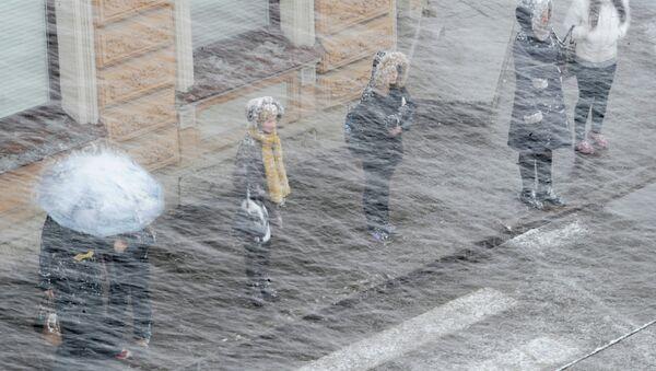 Снег в Санкт-Петербурге. Архивное фото.