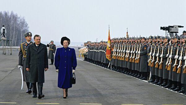Премьер-министр Великобритании М.Тэтчер и председатель совета министров СССР Н.Рыжков